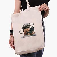 Эко сумка шоппер белая Давид Микеланджело - Ренессанс (David Michelangelo) (9227-1201-1)  экосумка шопер, фото 1