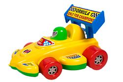 Игрушка-каталка Гоночная машина на веревочке.Каталка машина для детей.