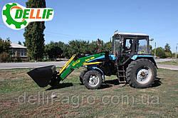 Навантажувач на трактор МТЗ ЮМЗ Т 40 Dellif Base 1600 з вилами палетними