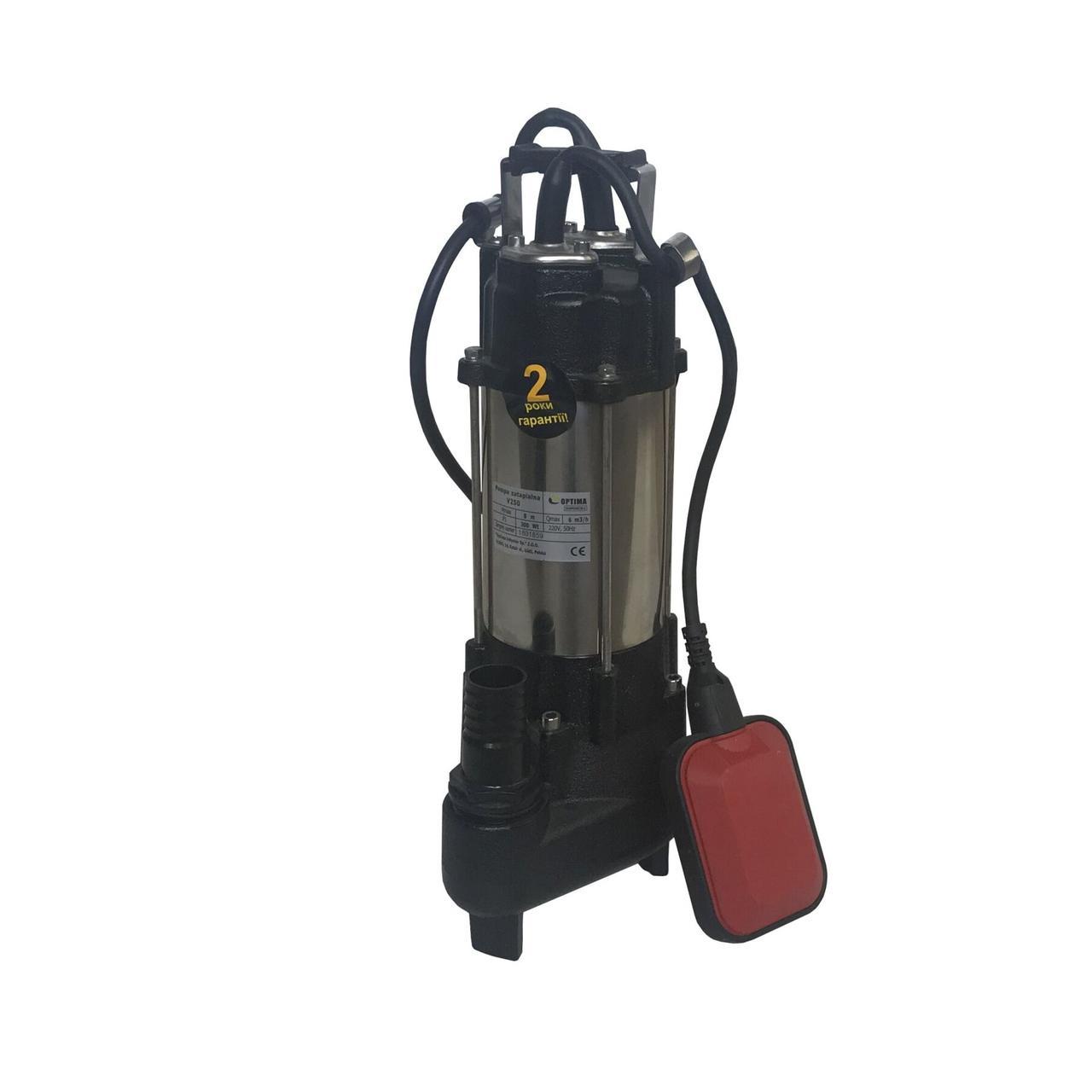 Насос фекальный Optima V250 0.3 кВт