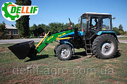 Навантажувач на трактор МТЗ ЮМЗ Т40 Dellif Base 1600 з ковшем 1 куб