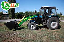 Погрузчик на трактор КУН на МТЗ Dellif 1600, с ковшом 1м³