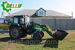 Кун на трактор МТЗ ЮМЗ Т 40 - Dellif Base 1600 з ковшем 2 м