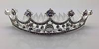 Диадема в виде короны со стразами. Свадебные тиары оптом бижутерии RRR. 26