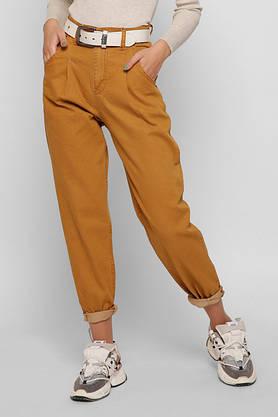 Женские джинсы Мом Jeans с высокой талией широкие горчичные, фото 3