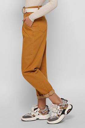 Женские джинсы Мом Jeans с высокой талией широкие горчичные, фото 2