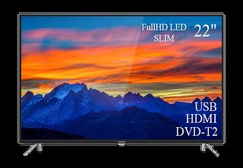 """ТЕЛЕВИЗОР THOMSON 22"""" FullHD T2 USB Гарантия 1 ГОД!(1080р)"""