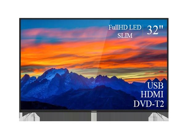 """ТЕЛЕВІЗОР THOMSON 32"""" FullHD T2 USB Гарантія 1 РІК!(1920×1080)"""