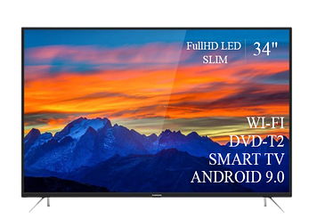 """ТЕЛЕВИЗОР THOMSON 34""""  Smart-TV FullHD T2 USB Гарантия 1 ГОД! Android 9.0"""
