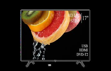 """ТЕЛЕВІЗОР HISENSE 17"""" HD-Ready DVB-T2 USB Гарантія 1 РІК! (1366x768)"""