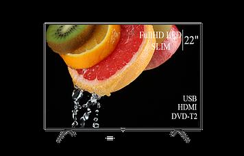 """ТЕЛЕВІЗОР HISENSE 22"""" FullHD T2 USB Гарантія 1 РІК!(1080р)"""