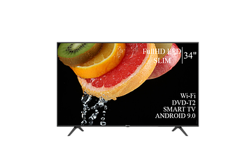 "ТЕЛЕВІЗОР HISENSE 34"" Smart-TV FullHD T2 USB Гарантія 1 РІК! Android 9.0"
