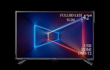 """ТЕЛЕВИЗОР SHARP 42"""" FullHD T2 USB Гарантия 1 ГОД!"""