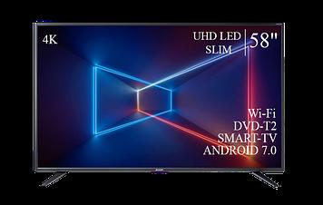 "ТЕЛЕВИЗОР SHARP 58"" Smart-TV/DVB-T2/USB Android 7.0 4К/UHD"