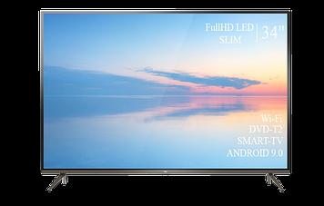 "Телевізор TCL 34"" Smart-TV Full HD T2 USB Android 9.0 Гарантія 1 РІК"