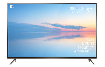 "Телевізор TCL 52"" Smart-TV ULTRA HD T2 USB Гарантія 1 РІК!"