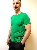 Футболка мужская классическая зеленая, фото 1