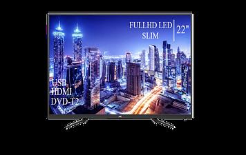 """Телевізор JVC 22"""" FullHD DVB-T2 USB Гарантія 1 РІК! (1080р)"""