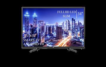 "Телевізор JVC 34""Smart-TV FullHD T2 USB Гарантія 1 РІК Android 9.0"