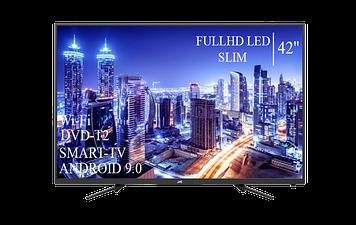 "Телевізор JVC 42"" Smart-TV FullHD T2 USB Гарантія 1 РІК Android 9.0"