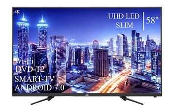 "Телевізор JVC 58"" Smart-TV ULTRA HD T2 USB Гарантія 1 РІК"