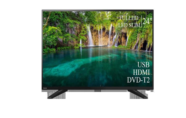 """ТЕЛЕВІЗОР TOSHIBA 24"""" FullHD DVB-T2 USB Гарантія 1 РІК!"""