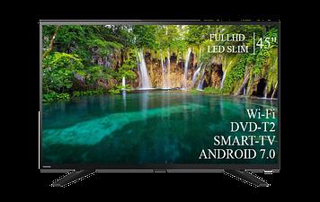 """ТЕЛЕВИЗОР TOSHIBA 45"""" Smart-TV FullHD T2 USB Гарантия 1 ГОД"""
