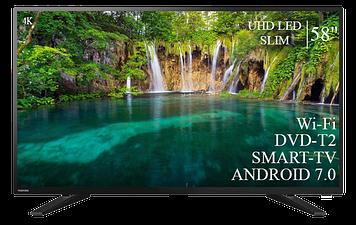 """ТЕЛЕВИЗОР TOSHIBA 58"""" Smart-TV ULTRA HD T2 USB Гарантия 1 ГОД"""