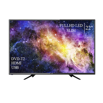 """Телевізор DEX 22"""" FullHD DVB-T2 USB Гарантія 1 РІК! (1080р)"""