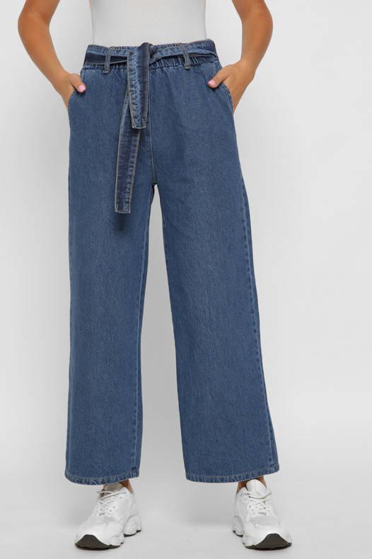 Женские джинсы клеш с высокой талией широкие, фото 2