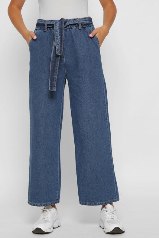 Женские джинсы клеш с высокой талией широкие