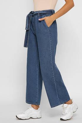 Женские джинсы клеш с высокой талией широкие, фото 3