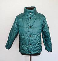 Детская демисезонная куртка на мальчиков от 4 до 7 лет, цвет бутылка, фото 1