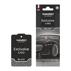 Ароматизатор Exclusive card black  Winso (533110)