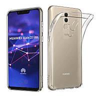 Чехол силиконовый для Huawei mate 20 lite ультратонкий прозрачный (хуавей мат 20 лайт)