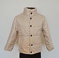 Детская демисезонная куртка для мальчиков от 4 до 7 лет,бежевого цвета, фото 1