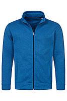 Оригинальная флисовая куртка мужская синего цвета