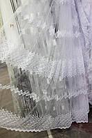Тюль фатин корд, цвет белый
