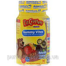 Детские жевательные витамины, L'il Critters Gummy Vites Complete Multivitamin 70 Gummies