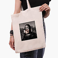 Эко сумка шоппер Мона Лиза «Джоконда» - Ренессанс (Mona Lisa La Gioconda) (9227-1202)  экосумка шопер 41*35 см, фото 1