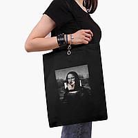 Эко сумка шоппер черная Мона Лиза Джоконда Ренессанс (Renaissance Mona (9227-1202-2) экосумка шопер