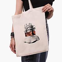 Эко сумка шоппер Меган Фокс - Ренессанс Медуза Горгона (Megan Fox) (9227-1203)  экосумка шопер 41*35 см , фото 1