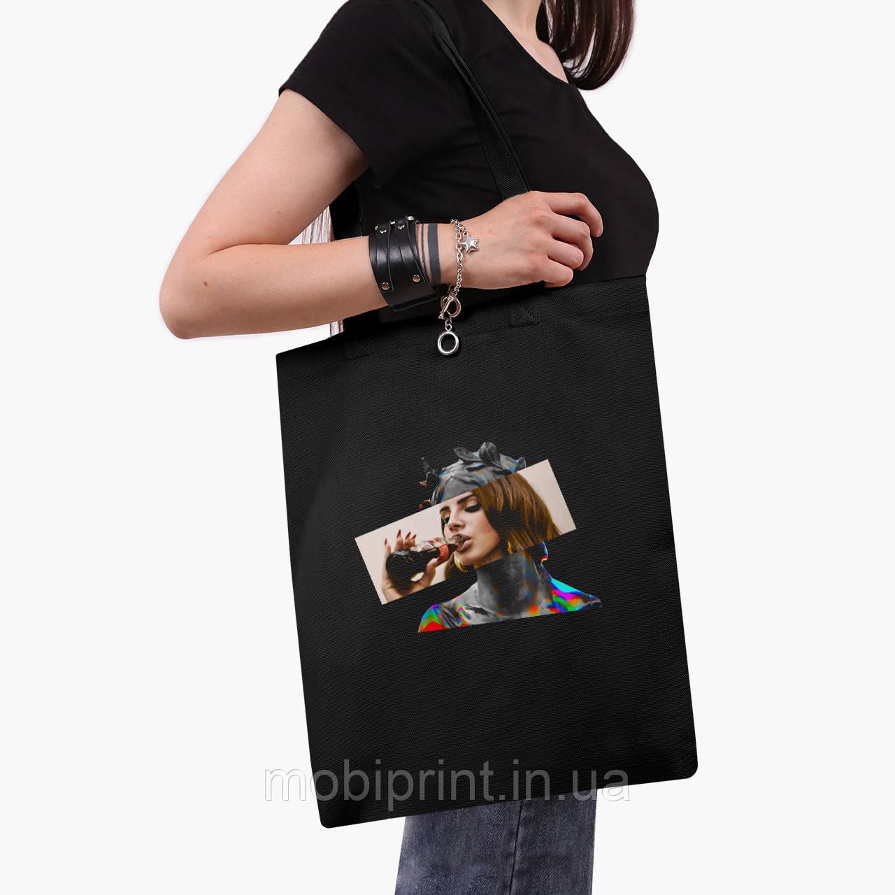 Эко сумка шоппер черная Лана Дель Рей - Ренессанс (Lana Del Rey - Renaissance) (9227-1204-2)  41*35 см