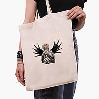 Эко сумка шоппер Билли Айлиш - Ренессанс (Billie Eilish - Renaissance) (9227-1205)  экосумка шопер 41*35 см , фото 1