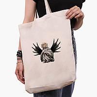 Эко сумка шоппер белая Билли Айлиш - Ренессанс (Billie Eilish - Renaissance) (9227-1205-1)  экосумка шопер, фото 1