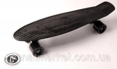 Penny Board Fish Черный цвет. Матовые колеса