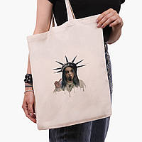 Эко сумка шоппер Ренессанс-Билли Айлиш (Billie Eilish) (9227-1583)  экосумка шопер 41*35 см , фото 1