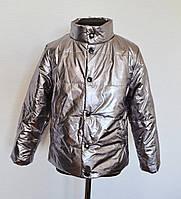 Детская демисезонная куртка для мальчика от 4 до 7 лет, цвет металлик, фото 1
