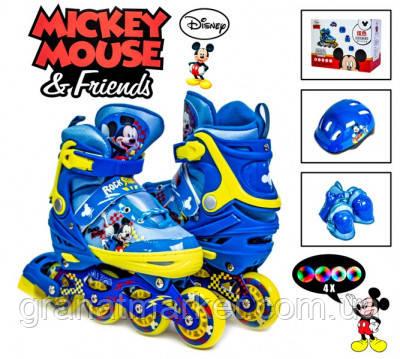 Комплект роликов Disney. Mickey Mouse. р.34-37. Все колеса светятся