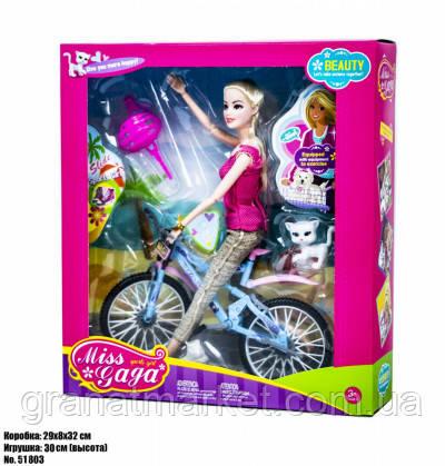 Набор кукла с питомцем на велосипеде Miss and Gaga 51803